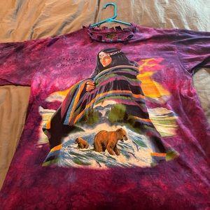 Native American tie dye T-shirt